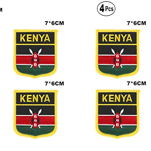Kenia Shiled Shape vlag patches nationale vlag patches voor Cothing DIY Decoratie