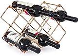 casiers à vin en métal comptoir bar à vin 10 bouteilles porte-vin stockage de vin de raisin sol