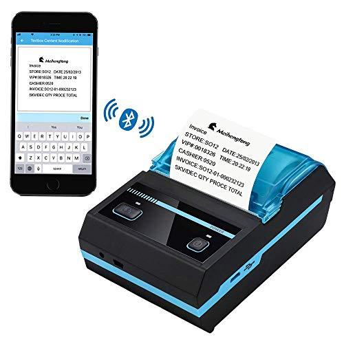 Printers 58mm drahtloser Wieder aufladbarer Thermodrucker Bluetooths, tragbarer mobiler Etikettendrucker stützen Android/iOS/ESC/POS