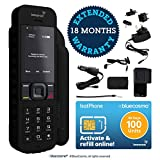 BlueCosmo Inmarsat IsatPhone 2.1 Satellite Phone Kit & 100 Unit Prepaid SIM (90 Days) - Global Coverage - Voice, SMS, GPS Tracking, Emergency SOS