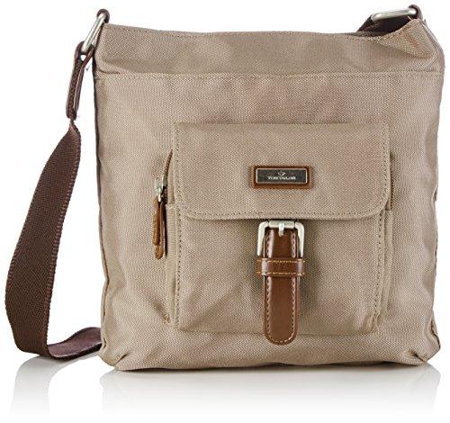 TOM TAILOR Umhängetasche Damen RINA Schultertaschen, Grau (taupe 21), 23x23x4 cm, TOM TAILOR Handtaschen, Taschen für Damen, klein