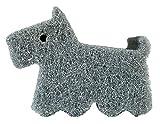 オーエ キッチン スポンジ グレー 犬 約縦7.8×横10.7×高さ4.0cm cf テリア シンクまわり キレイに洗える Spongeの写真