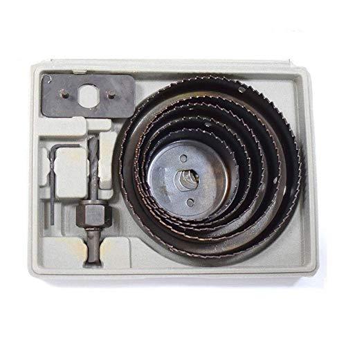 Tokyia Tratamiento de la madera agujero consideró 16pcs Junta Negro PVC sistema del tablero de yeso fraguado for trabajar la madera Taladro accesorios de corte Escariador industriales Placa de circuit