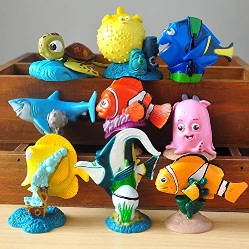 9pcs/lot 5cm Action Figures Toys Clownfish Marlin Doll PVC Garage Kit Toys Kids