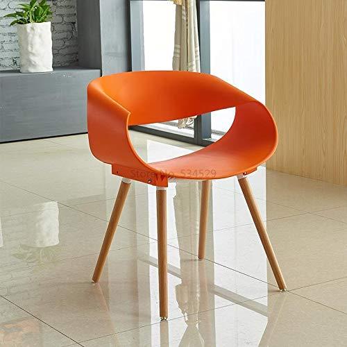 KANJJ-YU al Aire Libre 21% Nordic Moderna DE PLÁSTICA Moderna Silla Creativa Silla DE Madera SOLIDA Silla DE CAFERA Interior (Color : Style6)