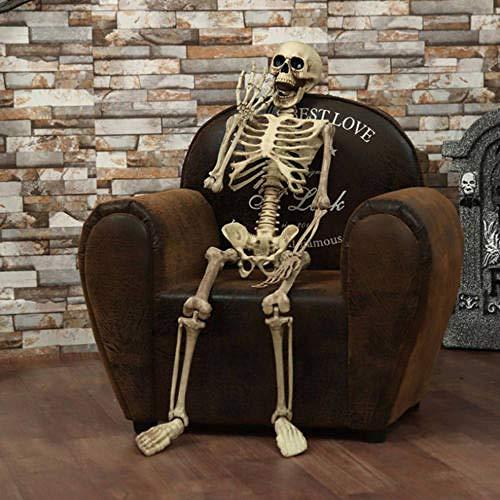 FUPOA Halloween Prop menschliches Skelett voller Größe Schädel Hand Leben Körper Anatomie Modell Dekor, 2,2
