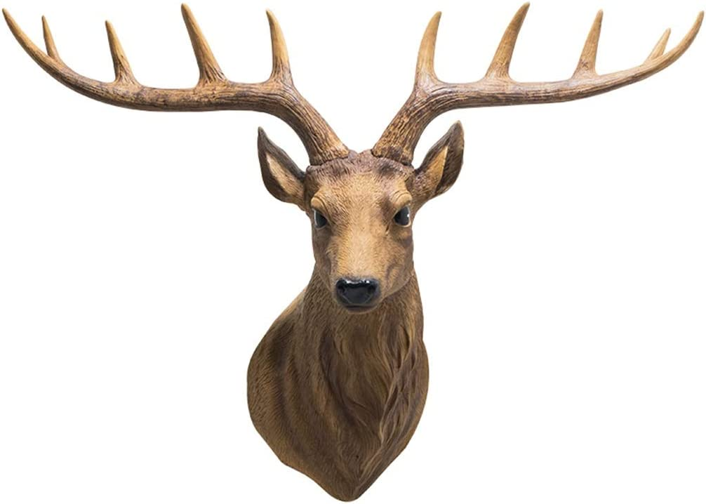 Wall Sculptures Deer Head Decoration Simulation trust Room Living Max 48% OFF