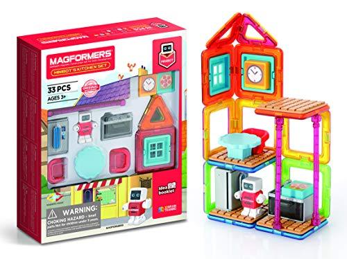 Unbekannt Magformers 705010 Minibot's Kitchen Magnetic World Magnetisches Spielzeug, Mehrfarbig