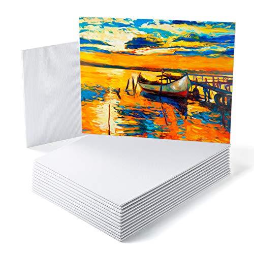 GC QUILL Leinwand Set,Kunstleinwand 14 Stück 20 x 25cm Leinwand aus 100% Baumwolle,Panel Boards Leinwände zum Malen,Kunst Acryl Öl Wasser Malbrett,Kunstleinwände für Hobbymaler,Künstler