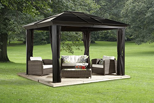 Sojag Sedona Hard Top Sun Shelter in Brown