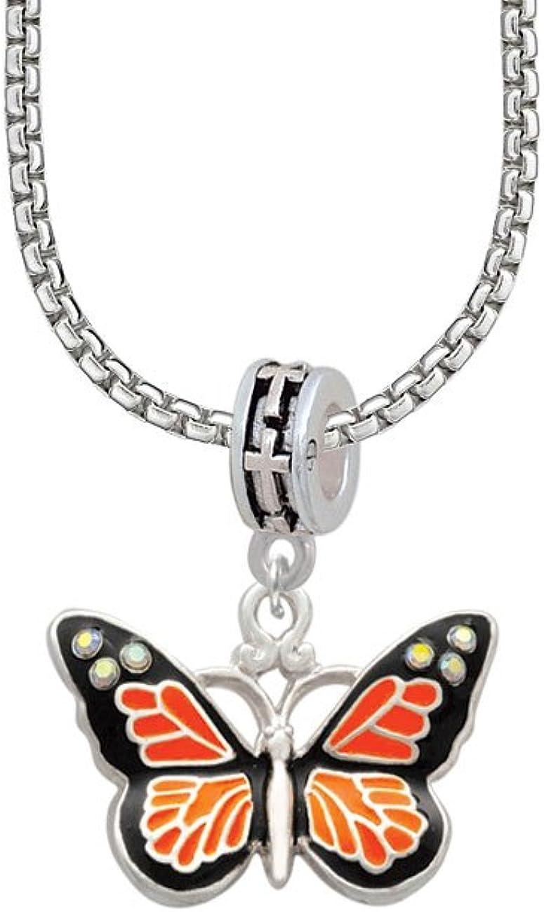 訳ありセール 格安 Delight 1着でも送料無料 Jewelry Large Enamel Butterfly with Be Crystals Cross AB