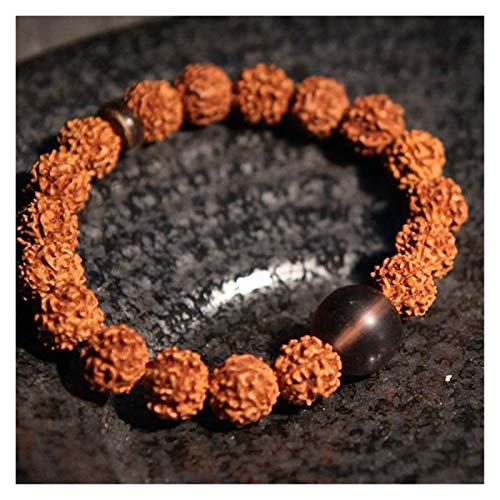 HUIJUNWENTI Prayer Beads Bodhi Bracelets Men Meditation Mala Crystal Beads Bracelets Jewelry Prayer Chakras Tibetan Bracelet (Color : 23cm, Size : 11)
