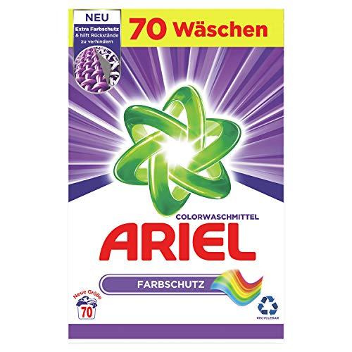 Ariel Waschmittel Pulver, Waschpulver, Color Waschmittel, Farbschutz, 70 Waschladungen (4.5 kg)