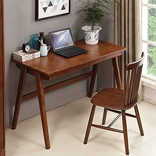 SYZMA Escritorio con 2 cajones de 120 x 60 x 75 cm (ancho x profundidad x altura), escritorio de ordenador y escritorios de madera maciza, diseño nórdico, estructura estable, fácil de montar (B)
