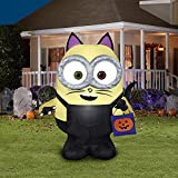 Gemmy 4' Halloween Inflatable Minions Bob Dressed in...