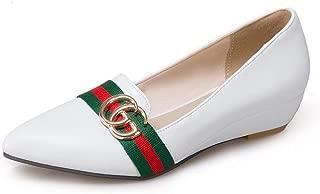 BalaMasa Womens APL12298 Pu Wedge Heels