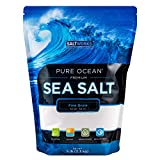SaltWorks Pure Ocean, Fine Grain, 5 Pound Bulk Bag, Sea Salt, 80 Oz