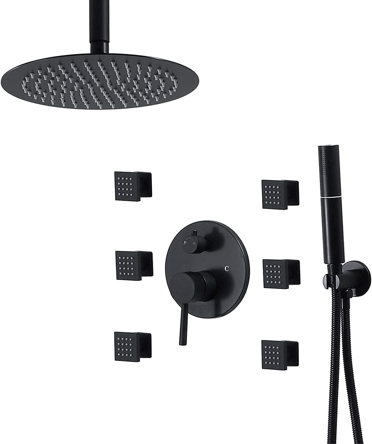 LSNLNN Rain Shower System Ceiling Max 83% OFF Mixer Bathroom Mounted Genuine Free Shipping S