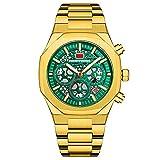 Tira De Acero Inoxidable Relojes Para Hombre Cronógrafo Movimiento De...