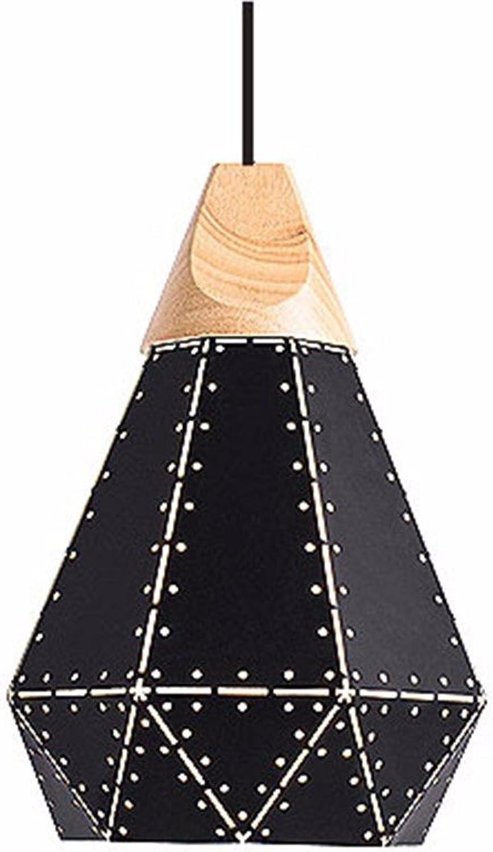 JDFM5 Wrought iron wood, schwarz trumpet Pendelleucht vintage dimmbar Hngelampe Deckenleuchte Deckenbeleuchtung Hngeleuchten Leuchte Kronleuchter Lampe