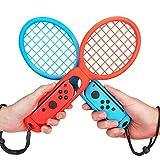 MoKo Raquette de tennis Compatible avec Nintendo Switch, (Lot de 2)...