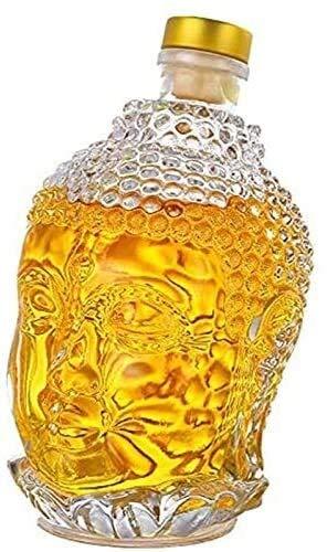 WJJ Botella de Whisky Cristal Decantador De Vidrio 750ml Buddha Crystal Whisky Decanters - Decantador De Vino para Vino, Borbón, Brandy, Licor, Jugo, Agua Decantadores de Vino