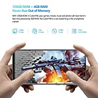 CUBOT P40 Smartphone 6.2 Pollici HD+ Waterdrop Android 10 4GB 128GB Quad Camera Batteria 4200mAh Supporto NFC Face ID Dual SIM Cellulare Nero #3