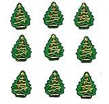 AMOYER 10pcs Mini Bordado De Navidad del Árbol De Navidad Parches Hierro En Apliques De Vestir De DIY Ropa Engomadas del Partido De Navidad Hecha a Mano del Traje Apliques De Accesorios