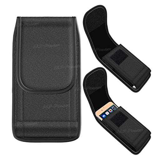 """HJ Power[TM] LPVL07 Belt Clip Carrying Pouch Case is Compatible with 5.0""""-5.5"""" (Cell Phone)- Black Arizona"""