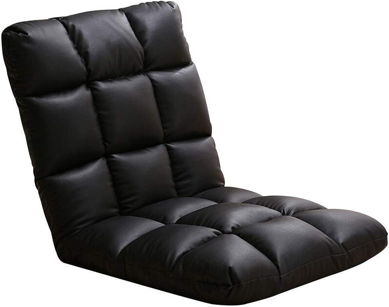 Baiyun Flyin Adjustable Lazy Sofa   PU Leather Single Folding Chair   Dormitory Bed Computer Chair   Japanese Bay Window Sofa Chair