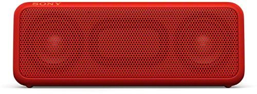 Sony SRS-XB3 tragbarer kabelloser Lautsprecher (Extra-Bass, wasserabweisend, NFC, Bluetooth, 24 Stunden Akkulaufzeit) rot
