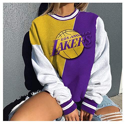 FDRYA Sudadera Sudadera con Capucha Camiseta de Camiseta de Baloncesto para Mujer - Jersey con Capucha Suelta Ropa de Baloncesto Sudadera Traje de Entrenamiento Deportivo 3-S