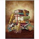 WACYDSD Puzzle 1000 Piezas Libro sobre la Mesa Rompecabezas clsico DIY Kit de Juguete de Madera decoracin para el hogar