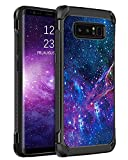 BENTOBEN Samsung Galaxy Note 8 Case, Glow in The Dark Dual Layer Hybrid Hard PC Soft TPU Rubber Rugged Anti-Slip Shockproof Protective Cases for Samsung Galaxy Note 8 6.3 Inch 2017, Nebula
