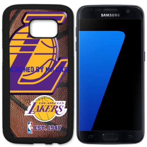 Lakers Ls Angeles Basketball New Black Samsung Galaxy S7 Edge Case by Mr Case