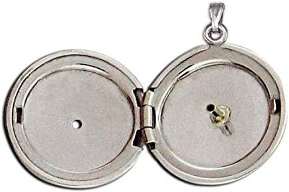 Popular brand Cheap mail order shopping PicturesOnGold.com 14K Yellow Gold Cremation W and D Hair Locket