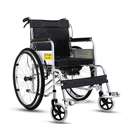 ANZQYILIAO rolstoel in een verscheidenheid aan sfeers, met afneembaar rugpaneel en verstelbare armleuningen, met een klapbare klapstoel