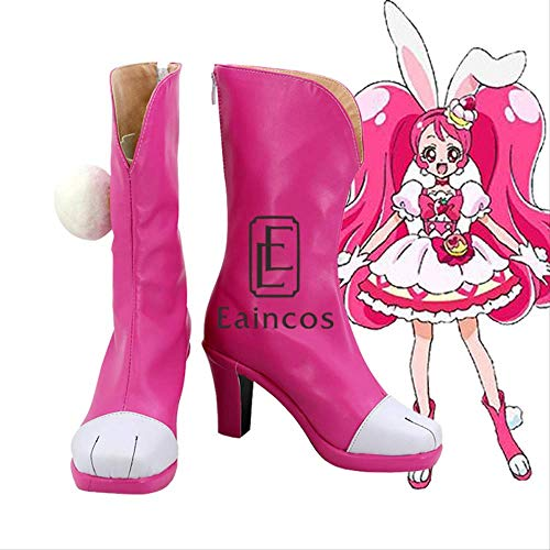 WSJDE Anime Pretty Cure PreCure Cure Whip Boots Cosplay Party Shoes por Encargo