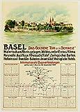 PostersAndCo TM Basel Schweiz Rrjc Poster / Reproduktion,