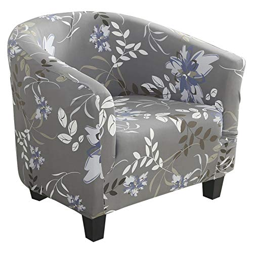 laamei Funda Elástica para Sillón- Funda de Sofá Individual Sofá Sala de Estar 1 Asient Impresión Estampado Floral
