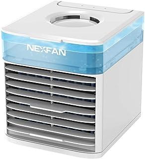 Enfriador de aire, ventilador de aire acondicionado portátil, ventilador de enfriador de aire con capacidad de tanque de agua de 500 ml, mini ventilador de enfriamiento USB para uso en el hogar o la o