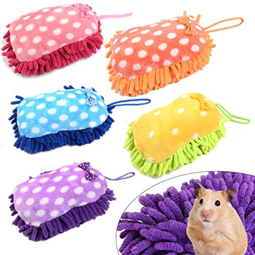 Haploon 5 Pieces Rabbit Guinea Pig Pillow Accessories Hangable Sleep Mat,Removable Cushion,Soft and Cotton Bedding Pet Bedding for Small Animals Bed
