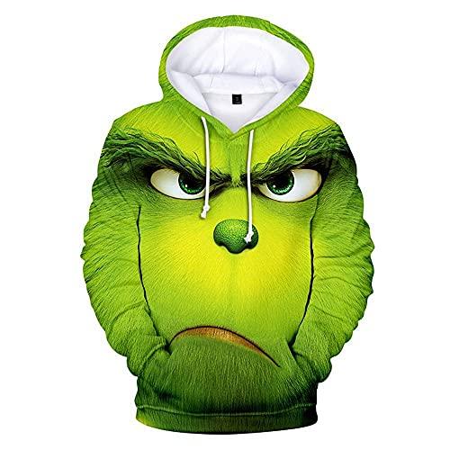 'N/A' Sudadera con capucha para hombre con impresión 3D, forro polar, diseño navideño