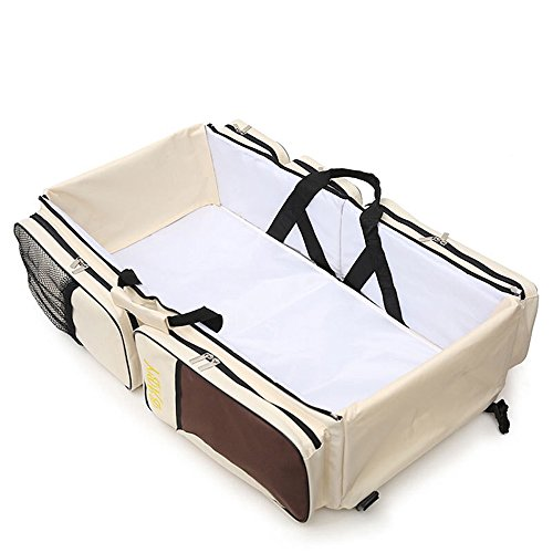 Naerde - Borsa fasciatoio 3 in 1 portatile multifunzionale: lettino, culla portatile, facile da trasportare ovunque