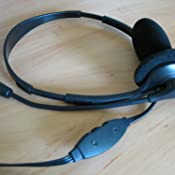 LogiLink HS0001 Facetime ideal f/ür Home Office Videochat Stereo Headset Leichtgewicht mit drehbarem Mikrofonarm und Lautst/ärkeregelung am Kabel