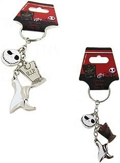 Nightmare Before Christmas Jack Skellington Head w/ Graveyard and Zero the Dog Disney 3-In-1 Key Chain