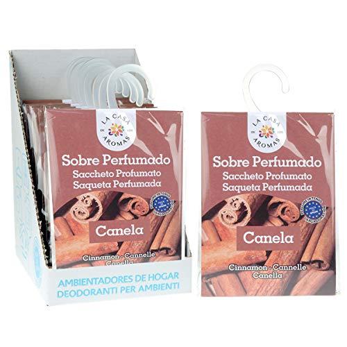 Sobres Perfumados, Bolsitas Aromáticas Aroma Canela, Saquitos para el Armario, Cajón, Ropa de Bebé, Zapatero, Maleta (Canela, 12 PCS)
