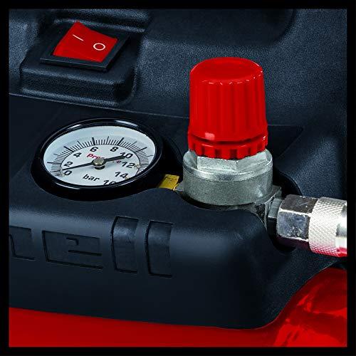 Einhell Kompressor TC-AC 190/6/8 OF (1.100 W, max. 8 bar, öl-/servicefreier Motor, 6 Liter Drucklufttank, Manometer, Schnellkupplung, Sicherheitsventil, Handgriff) - 7