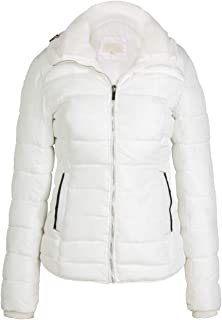 Bellivera Women's Quilted Lightweight Jacket for Winter and Fall, Puffer Coat with 2 Pockets, Cotton Filling, Water Resistant