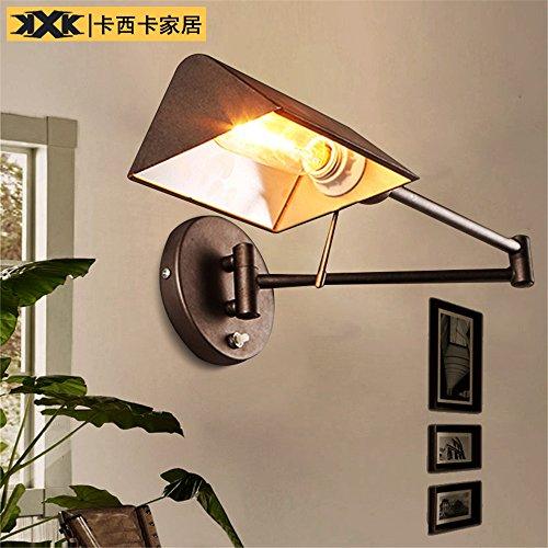 DengWu Wandverlichting Amerikaans dorp minimalistische industriële wind slaapkamer in loft bed ijzer jeugdstijl uittrekbare wandlampen